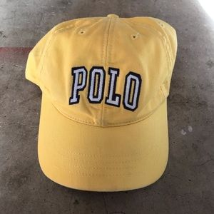 Vintage Polo Sport Yellow spell Out hat